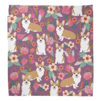 Corgi Dog Bandana - Purple