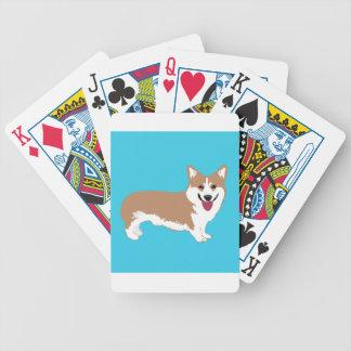 Corgi Dog Bicycle Playing Cards