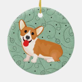 corgi dog christmas ornament