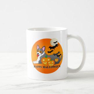 Corgi Dog Halloween Coffee Mugs