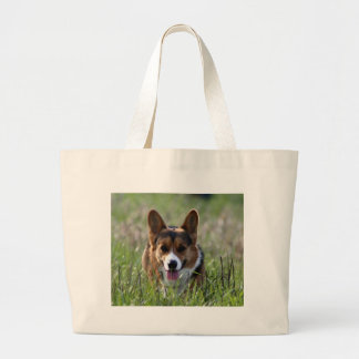 Corgi Dog Large Tote Bag