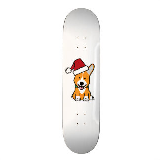 Corgi dog puppy Pembroke Welsh Christmas Santa hat 20.6 Cm Skateboard Deck