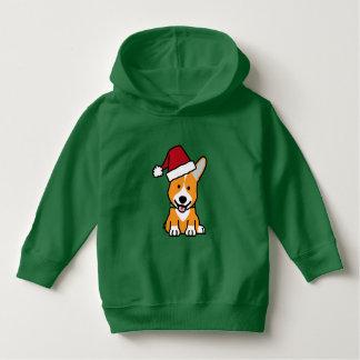 Corgi dog puppy Pembroke Welsh Christmas Santa hat Hoodie