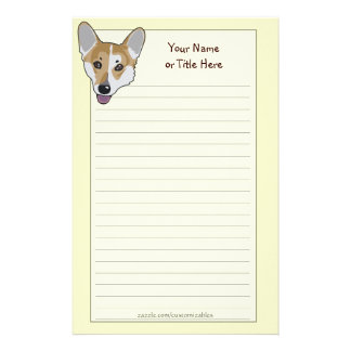 Corgi Face Stationery
