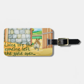 "Corgi ""Gate Open"" Luggage Tag"