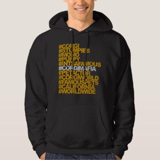 Corgi Hashtags Hooded Sweatshirt
