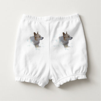 Corgi In the Clouds Baby Bloomers Nappy Cover