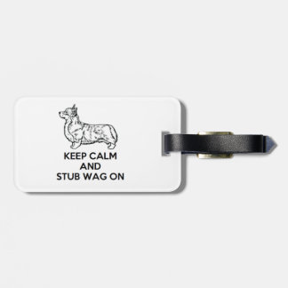 "Corgi ""Keep Calm"" Luggage Tag"