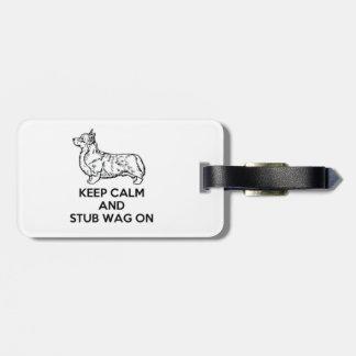 """Corgi """"Keep Calm"""" Luggage Tag"""