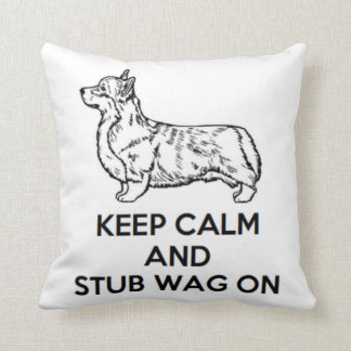 "Corgi ""Keep Calm"" Pillow"