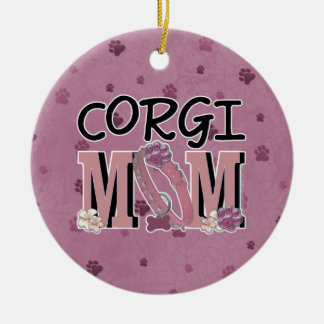 Corgi MOM Christmas Ornament
