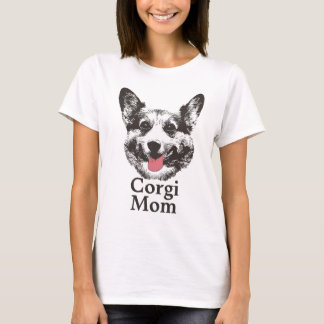 Corgi Mom Cute Dog Animal Face T-Shirt