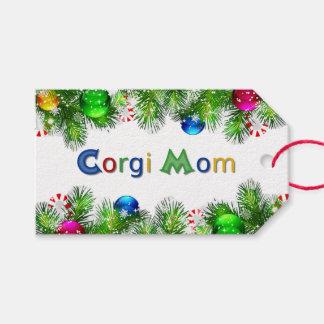 Corgi Mom Rainbow Gift Tags
