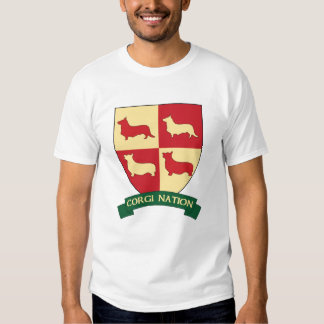 Corgi Nation Crest T Shirt