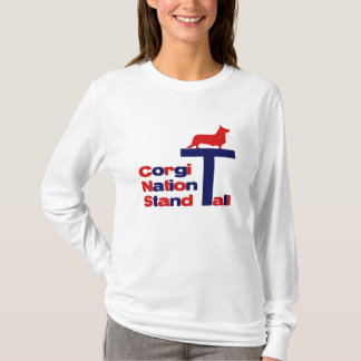 Corgi Nation Stand Tall T-Shirt