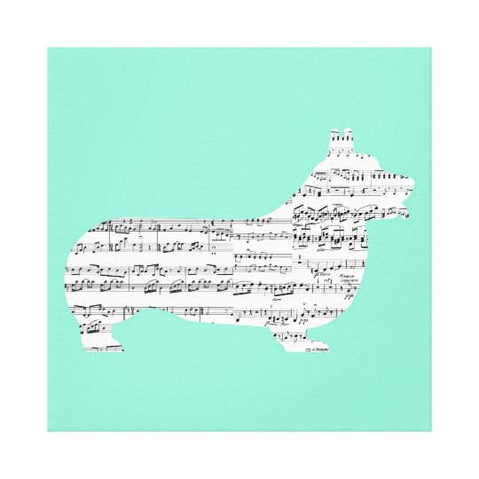 Corgi Notes Canvas Print