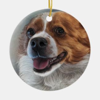 Corgi Painting Christmas Ornament