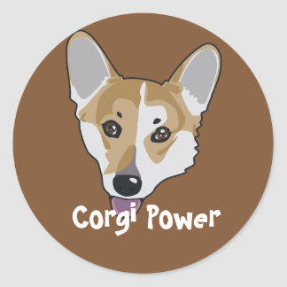 Corgi Power Sticker
