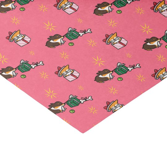 Corgi Puppies Christmas Tissue Paper   Gift Wrap
