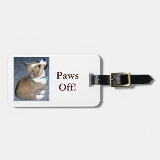 Corgi Puppy Gear Luggage Tag
