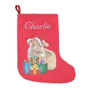 Corgi Puppy Small Christmas Stocking