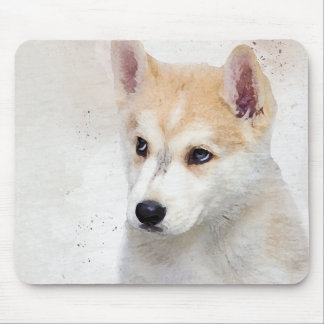 Corgi Puppy Watercolor Painting for Dog Lover Mouse Mat