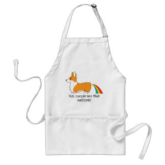 Corgi rainbow poop standard apron