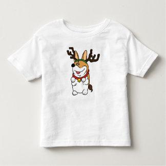 Corgi Reindeer Toddler Kids T-Shirt
