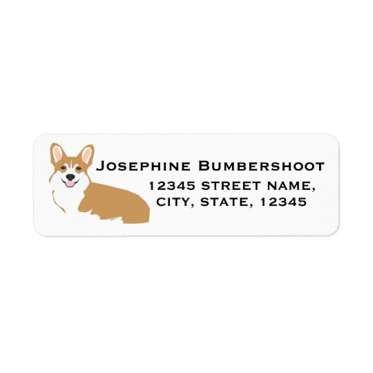 Corgi return address labels - cute corgi design