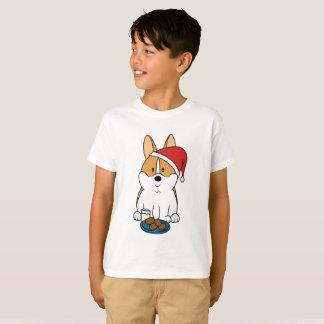 Corgi Santa Hanes Kids T-Shirt