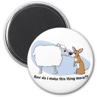 Corgi & Sheep Magnet