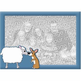 Corgi & Sheep Photo Frame Photo Sculpture Magnet