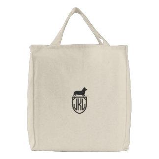 Corgi Silhouette with Custom Monogram Bags