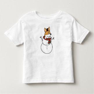Corgi Snowman Toddler Kids T-Shirt