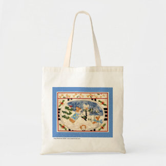Corgi Snowman Totebag Bag