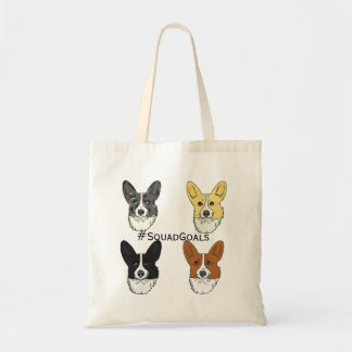 Corgi squad goals! tote bag
