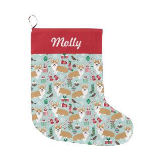 Corgi Stocking - cute corgis design christmas
