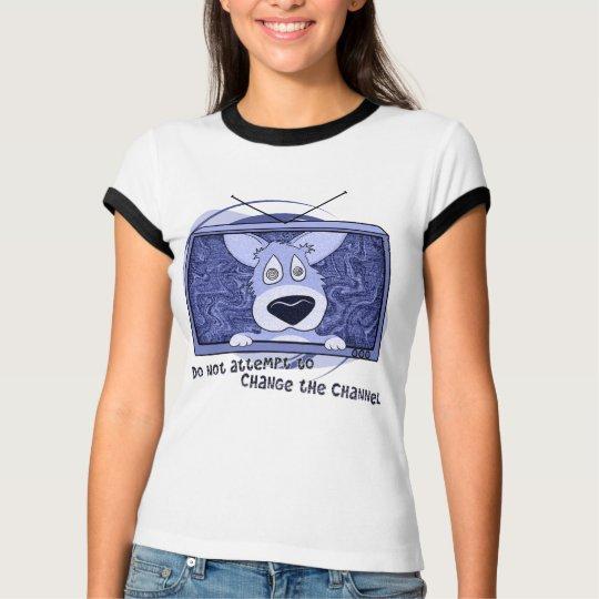 Corgi Television Invasion Ladies Ringer Teeshirt T-Shirt