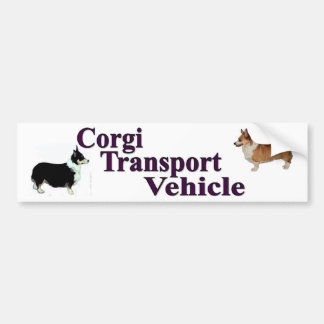 Corgi Transport Vehicle Bumper Sticker
