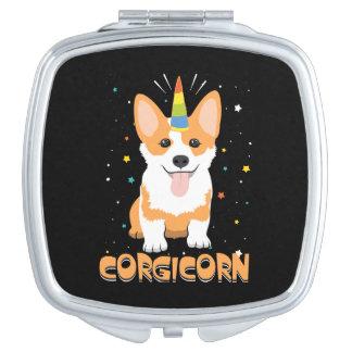 Corgi Unicorn - Corgicorn - Cute Dog Cartoon Makeup Mirror