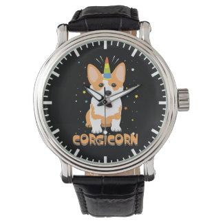 Corgi Unicorn - Corgicorn - Cute Dog Cartoon Watch