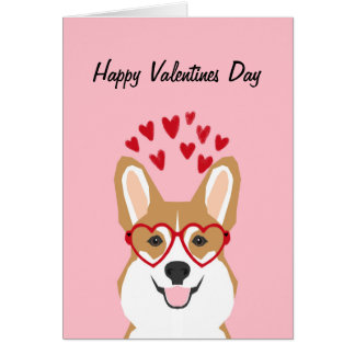 Corgi Valentines Love Card   Cute Dog