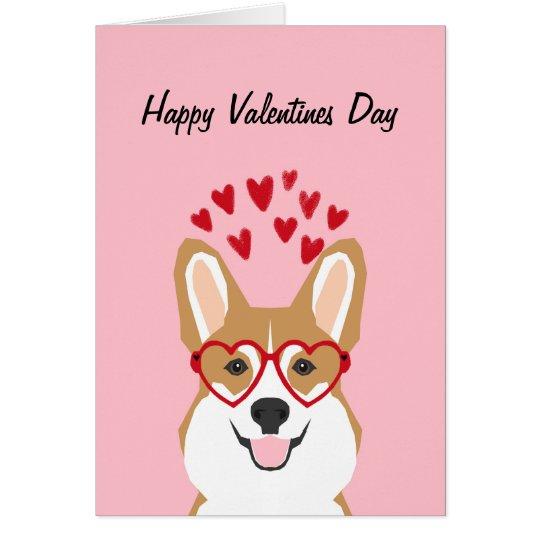 Corgi Valentines Love Card - cute dog