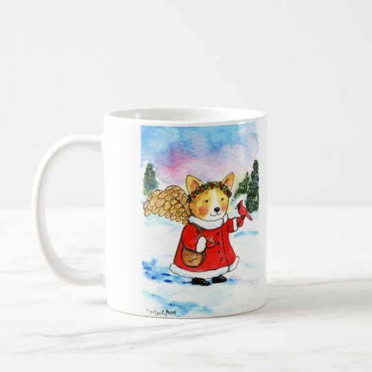 Corgi Winter Angel Coffee Mug
