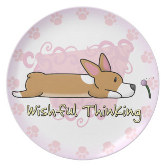 Corgi Wishful Thinking Plate
