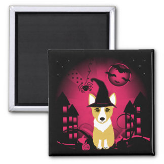 Corgi Witch Magnet