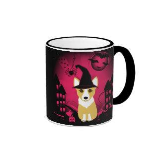 Corgi Witch Ringer Mug