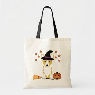 Corgi Witch Tote Bag