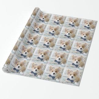 corgi wrapping paper