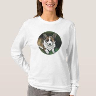 """Corgie"" Dog Art Reproduction Ladies Shirt"